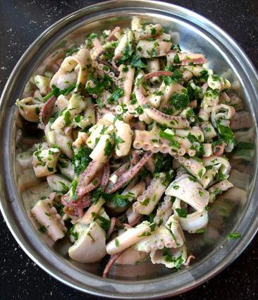 Recette de salade de poulpe