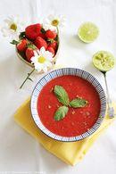 Recette de soupe de fraises à la menthe et citron vert