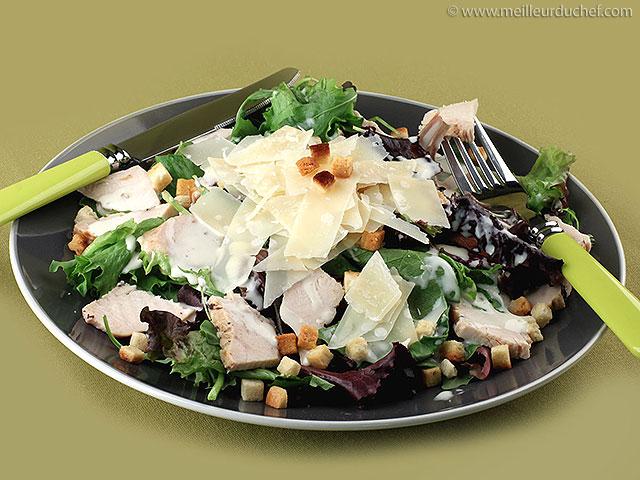 Salade césar  notre recette avec photos  meilleurduchef.com
