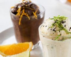 Recette shots de glace stracciatella, chocolat et poivre noir