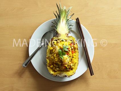 Recette de riz à l'ananas et au poulet