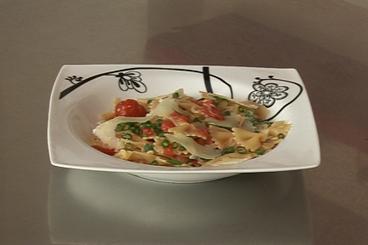 Recette de pastasotto de farfalle aux tomates cerises rapide