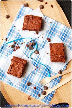 Recette de brownie au chocolat noir crousti-fondant