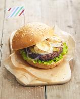 Recette de burger à la bûche de chèvre chavroux