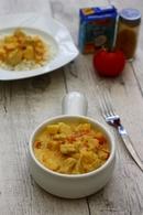 Recette de poulet au curry, lait de coco et pommes