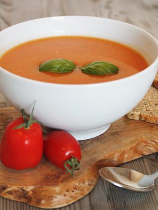 Recette de velouté de tomate au basilic