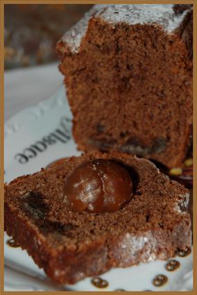 Recette de cake cacao et marrons glacés