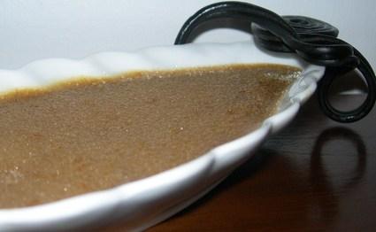 Recette de crème brûlée à la réglisse