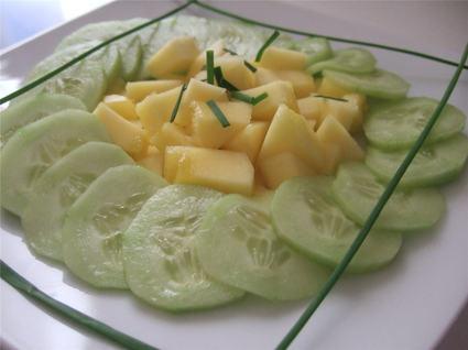 Recette de salade de concombre et de mangue