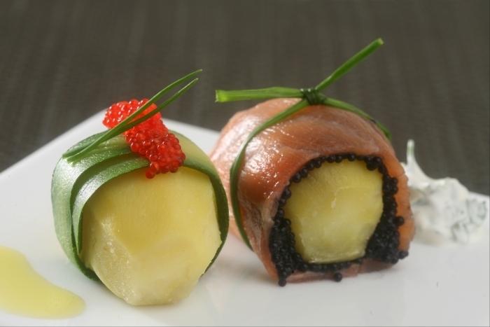 Recette de sushi maki de pomme de terre primeur, courgette et ...