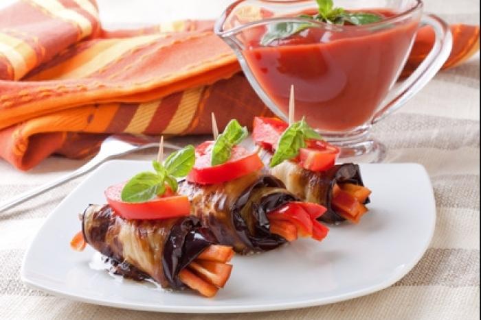 Recette de antipasti d'aubergines aux poivrons rouges facile et rapide