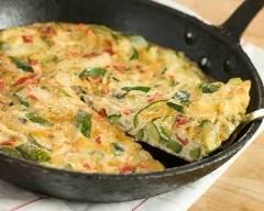 Recette omelette aux restes de ratatouille