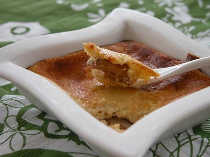 Recette de fondant de fromage blanc sur compote de mirabelles