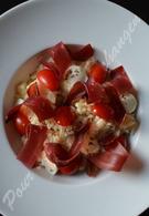 Recette de risotto à la mozzarella, tomates, viande des grisons