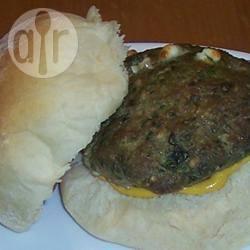 Recette viande de dinde aux épinards et au chèvre pour hamburger ...