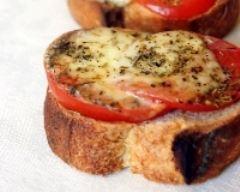 Recette tartines tomate mozzarella