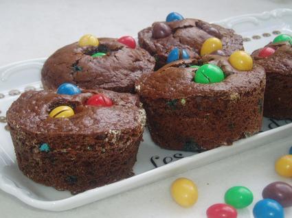 Recette de gâteaux au chocolat aux m&m's