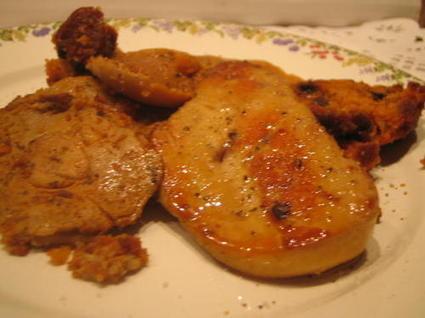 Recette de foie gras poêlé en croûte de pain d'épice