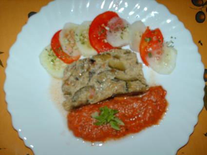 Recette de flan de courgettes et coulis de tomates