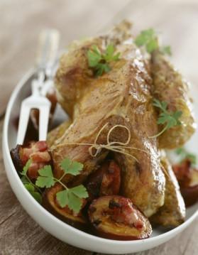 Pintadeau au foie gras et tagliatelles à la truffe pour 4 personnes ...
