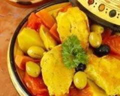 Recette tajine de poulet facile aux olives