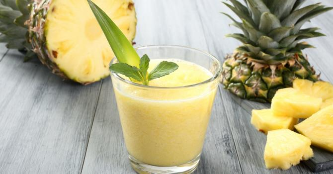 Recette de smoothie combustion des graisses thé vert et ananas