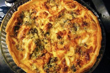 Recette de tarte aux brocolis et au roquefort