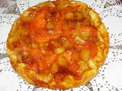 Recette de tarte tatin de melon et pomme