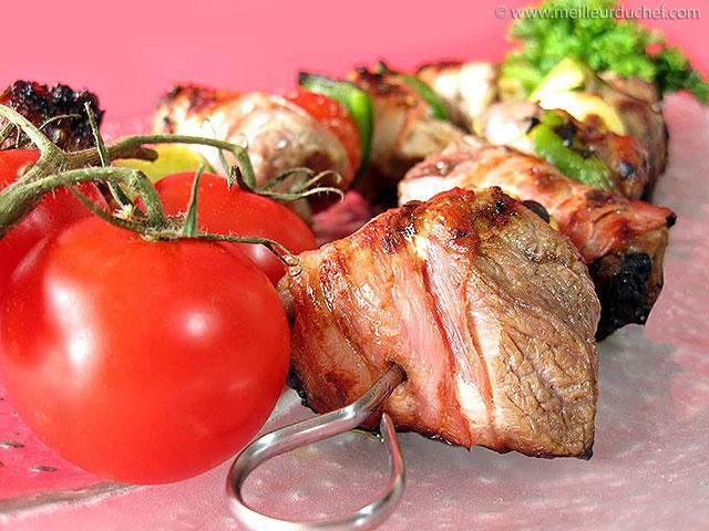 Brochettes d'agneau au lard  fiche recette illustrée ...