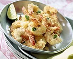 Recette crevettes panées à la noix de coco