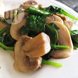 Recette champignons et épinards sautés à l'apulienne – toutes les ...