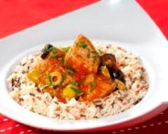 Recette sauté de veau aux olives et riz sauvage