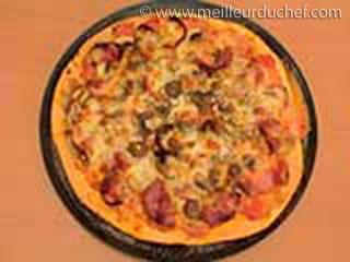 Pizza aux champignons et chorizo  fiche recette avec photos ...
