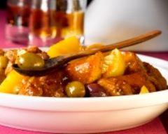 Recette tagine de veau aux pommes de terre, aux olives et au citron