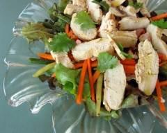Recette salade de poulet à la coriandre et moutarde