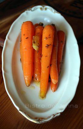 Recette de carottes glacées au miel et aux épices