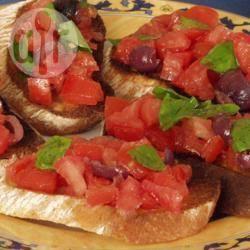Recette bruschetta tomates, olives et basilic – toutes les recettes ...