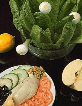 Poulet en salade-dîner pour 4 personnes