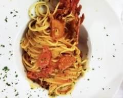 Recette spaghetti au homard et à la tomate