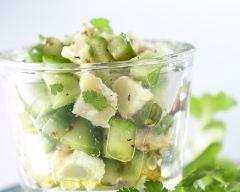 Recette salade de concombre et chèvre