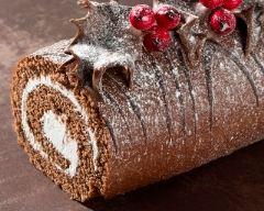 Recette bûche de noël au chocolat et vanille