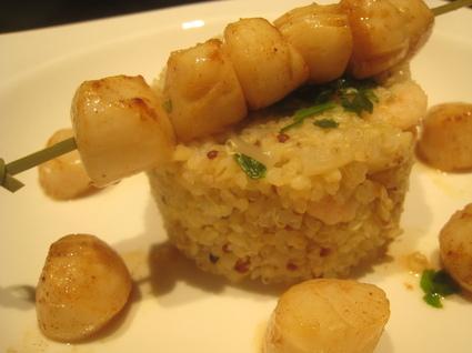 Recette de quinoa aux crevettes façon risotto