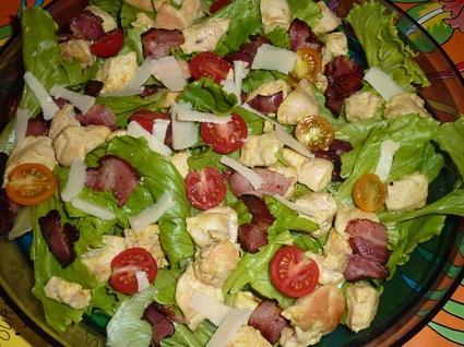 Recette salade au poulet césar (salade poulet)
