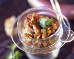 Recette magret de canard à la coriandre et aux noix caramélisées