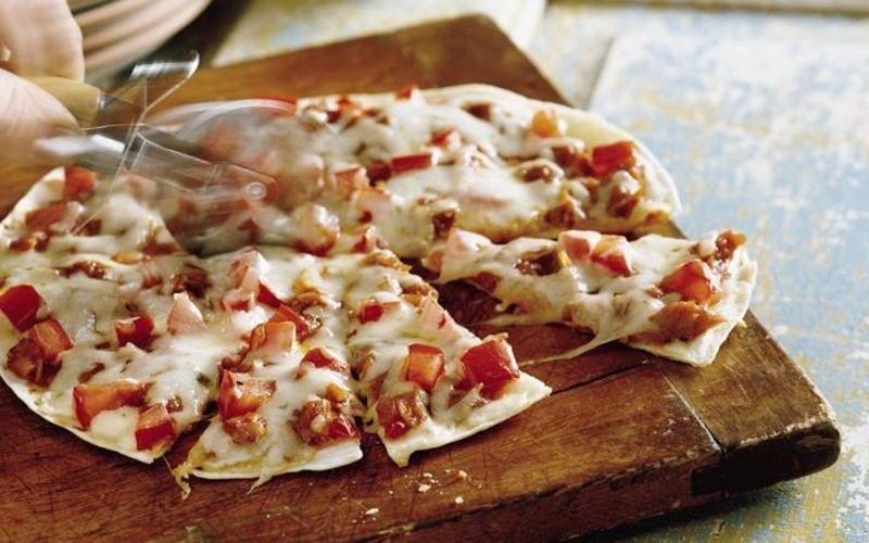 Recette pizza tortilla pas chère et rapide > cuisine étudiant