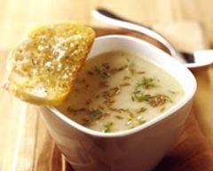 Recette soupe crémeuse au munster et pommes de terre à la bière