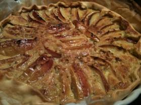 Tarte aux pommes et à la crème amande et kiwis pour 8 personnes ...