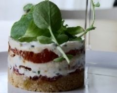 Recette tomates confites façon cheesecake