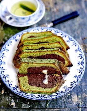 Marbré thé vert et chocolat blanc pour 6 personnes