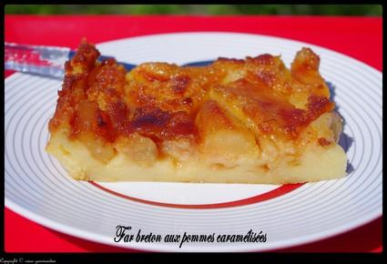 Recette de far aux pommes caramélisées